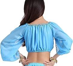 ZLTdream Lady's Belly Dance Long Sleeves Chiffon Top