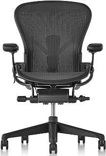 【正規品】Herman Miller (ハーマンミラー) アーロンチェア オフィスチェア Bサイズ グラファイト(ブラック) DC1堅床キャスター 12年保証 AER1B23DWALPG1G1G1DC1BK23103