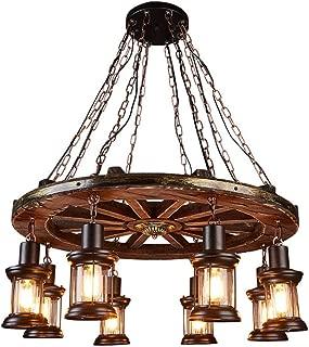 Best rustic wagon wheel lighting Reviews