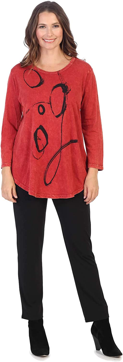 Ranking TOP14 Sales of SALE items from new works Jess Jane Women's Olivia Mineral Washed Tuni 3 Cotton Sleeve 4