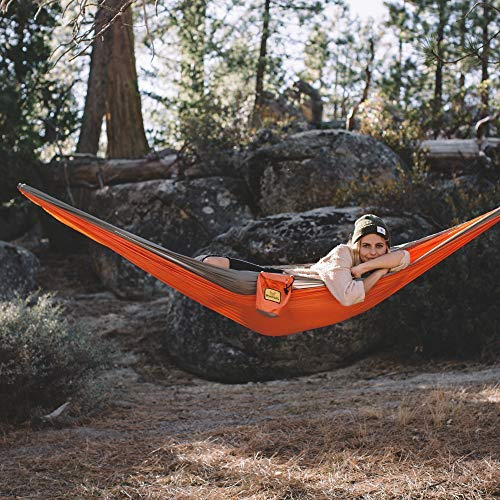 Wise Owl Outfitters Hammock Camping Double & Single with Tree Straps - USA Based Hammocks Brand Gear, Indoor Outdoor Backpacking Survival & Travel, Portable DO Org/Gy