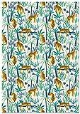 Panorama Papel Adhesivo para Muebles Tigres Selva 66x100cm - Impreso en Vinilo Textil - Fácil Instalación, Lavable y Duradero - Papel Pintado Muebles