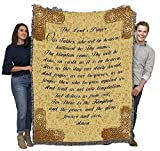 The Lord's Prayer - Cotton Woven Blanket Throw - Made in The USA (72x54)