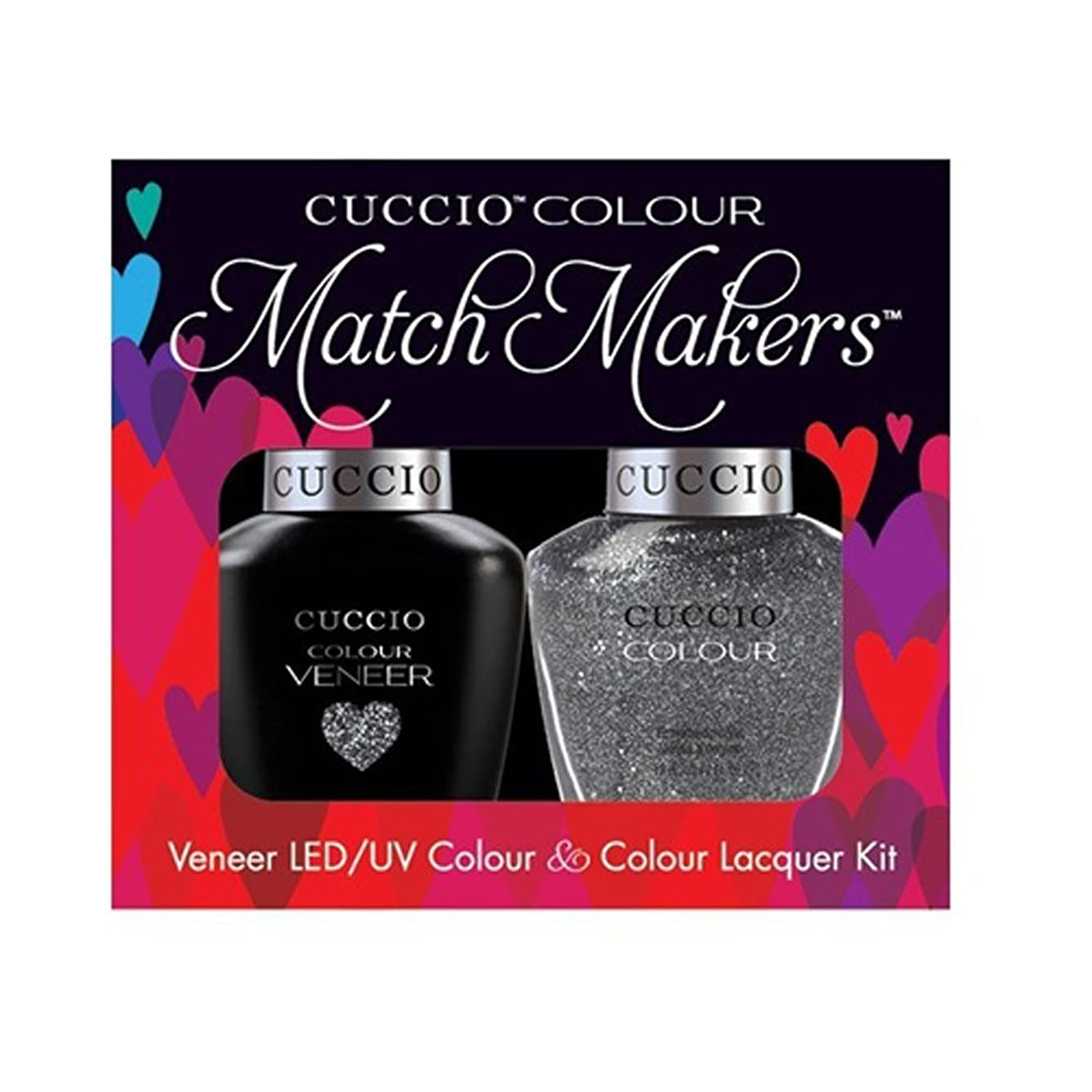 知覚的の感じるCuccio MatchMakers Veneer & Lacquer - Vegas Vixen - 0.43oz / 13ml Each