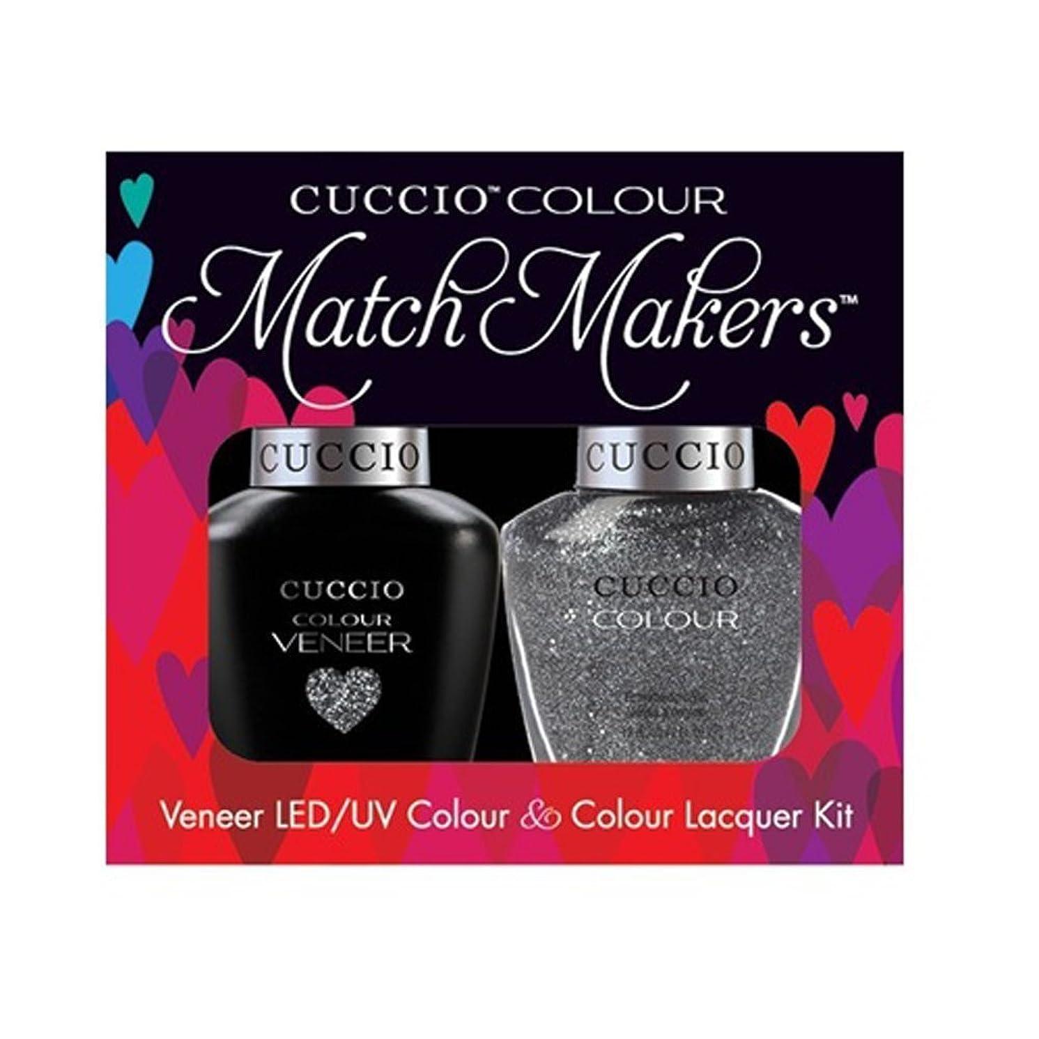 キャリアアプライアンス名誉Cuccio MatchMakers Veneer & Lacquer - Vegas Vixen - 0.43oz / 13ml Each