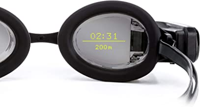 FORM Smart Swim Goggles, Activity Tracker with a See-Through Display Built into Swimming Goggles, Silver Mirrored Lens