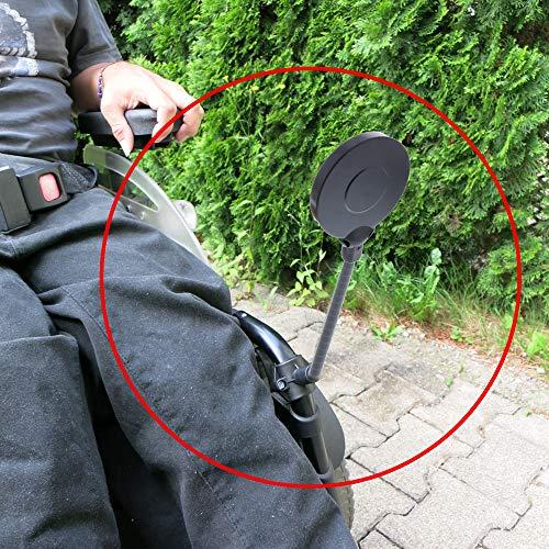 foto-kontor Rollstuhl Rückspiegel Schwanenhals verstellbar Spiegel Sichthilfe Überblick mehr Sicherheit