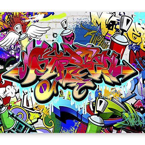 murando Papier peint intissé - 250x175 cm Décoration Murale XXL Poster Tableaux Muraux Tapisserie Photo Trompe l'oeilTableaux muraux déco XXL Graffiti f-A-0018-a-b