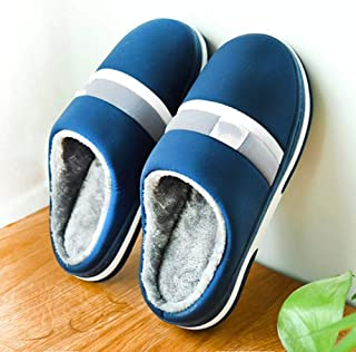 Oversized Cotton Slippers Men's Thick Bottom Warm And Non-Slip,48—49