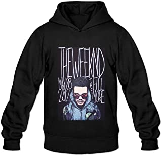 Ivantop The Weeknd poster 2016 fashion Men's Hoodie Sweatshirt Black