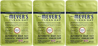 Mrs. Meyer's Clean Day Automatic Dishwasher Pods, Cruelty Free Formula Dish Soap Tablets, Lemon Verbena Scent, 20 Count - ...
