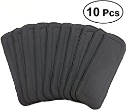 10 Pcs Baby 5-layer Bamboo Fiber Charcoal Washable Reusable Liners Diaper Nappies (Grey) for Baby