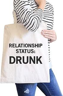Relationship Status Simple Cute Funny Graphic Printed Natural Black Canvas Tote Bag