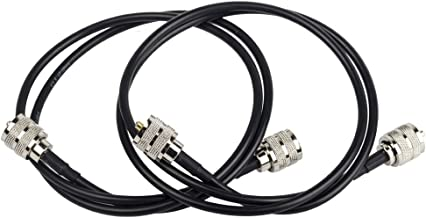 2pcs Rg58 Coax UHF (Pl259) male to male Antenna Cable, Eagles(TM) 3ft/36inch/1m RF Coaxial Cable Adapter Assembly