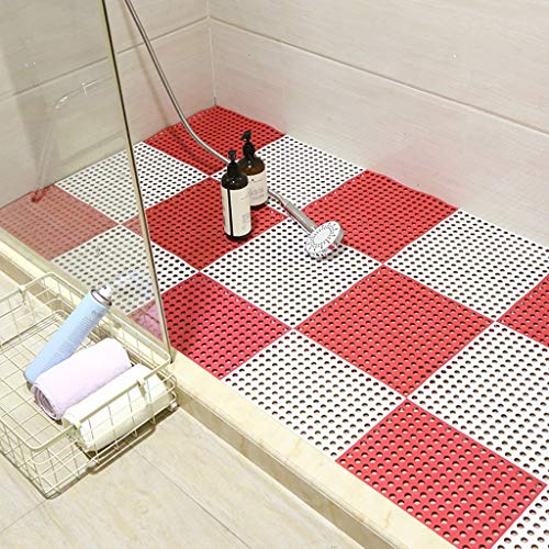 New Bath mats antiscivolo Absorbent Floor Mat Stitching Shower Room Bathing Water Hollow Plastic Foo...
