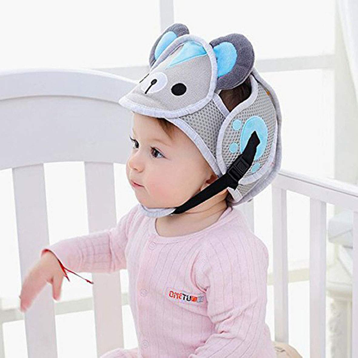 Baby Safety Helmet Head Protection Toddler Kids Adjustable Soft Headguard for Walking Crawling