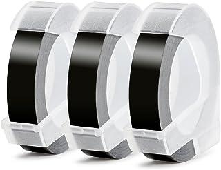 Aken Ruban de Marquage 3D compatible pour Dymo Ruban Noir 9mm x 3m, pour Dymo Omega S0717930, Dymo Junior S0717900 et Mote...