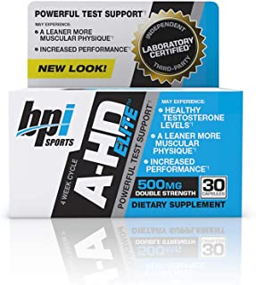 BPI Sports A-HD Elite – Men's Powerful Testosterone Booster – Natural Stamina, Strength, Sexual Support – Increases Metabolism – Fat Burning – Strength – Muscle – 30 Servings – 500mg