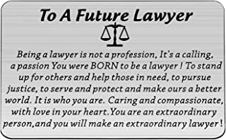 UJIMS Lawyer Appreciation Gift Future Lawyer Wallet Inserts Scale of Justice Law Graduation Jewelry You Will Make an Extra...