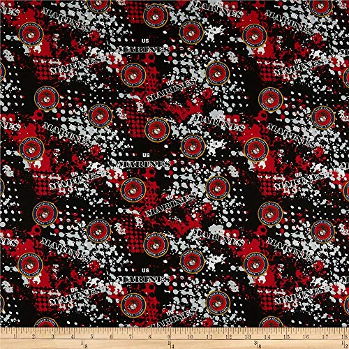 Sykel Enterprises Military Marines Abstract Geometric Allover Fabric, Multicolor, Fabric By The Yard