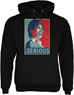 Election 2016 Hillary Clinton Why So Serious Black Adult Hoodie