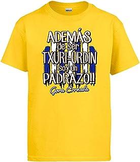 Diver Bebé Camiseta además de ser Txuri Urdin Soy un padrazo futbolero de San Sebastían