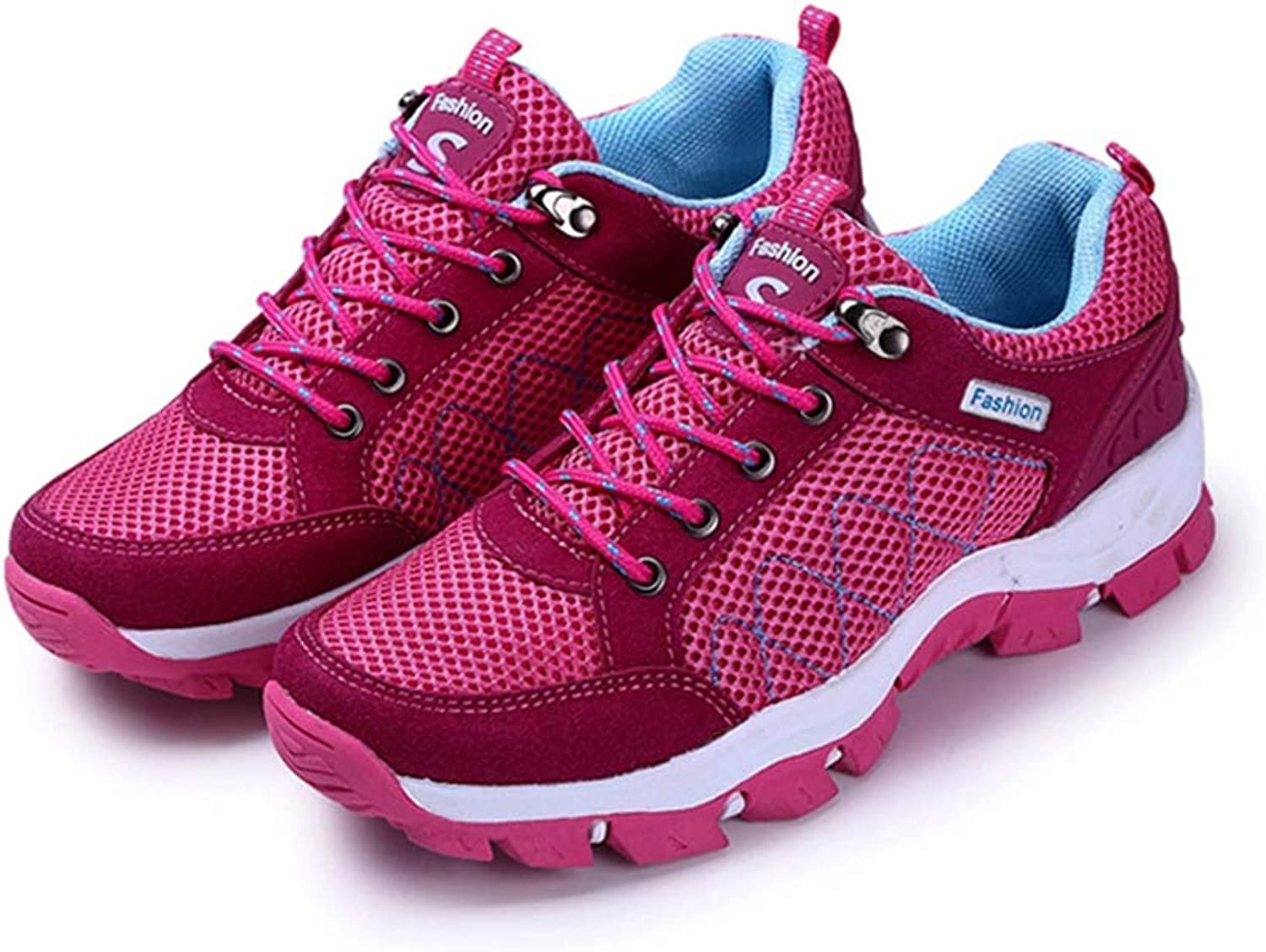ASO-SLING Women's Fashion Comfortable Sneakers Breathable Mesh Tennis Athletic Running shoes for Fitness Sports Walking