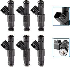 Injectors,cciyu 4 Holes Fuel Injectors Set fit for 1999-2001 Jeep Cherokee,1999-2004 Jeep Grand Cherokee/Wrangler,2000 2001 Dodge Ram 1500,2000-2003 Dodge Ram 2500 Van/Ram 3500 Van 0280155784,6 Pieces