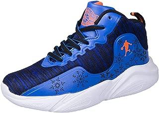 High Top Sneaker Lauf Velcro-Zuf/ällige Turnschuhe Leichte Anti-Rutsch-Mode Sportschuhe,Schwarz,28 Willsky Junge Basketball-Schuhe