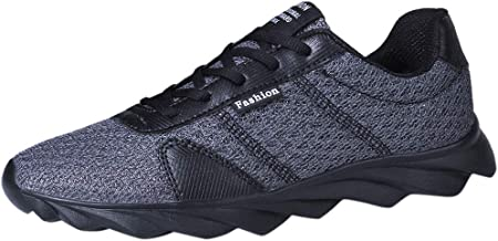 SUNyongsh Fashion Men's Mesh Flying Woven Breathable Lightweight Sneakers Running Shoes
