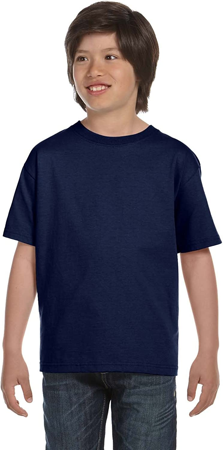 By Hanes Hanes Youth 52 Oz ComfortSoft Cotton T-Shirt - Navy - S - (Style # 5480 - Original Label)