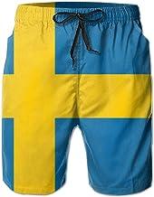 VvwSaWUgQL Flag of Maryland Mens Swim Trunks Fashion 3D Printed Beach Pants Breathable Light with Pocket Shorts