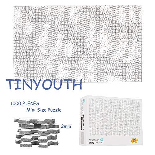 TINYOUTH 1000 Teile Weiße Puzzles für Erwachsene, Blanko Puzzle Zum Selbst Bemalen Mini Puzzle, Geduldsspiel für Erwachsene, Schwierige Rätsel, Schwierige Puzzle Stressabbauer für Puzzle Freak