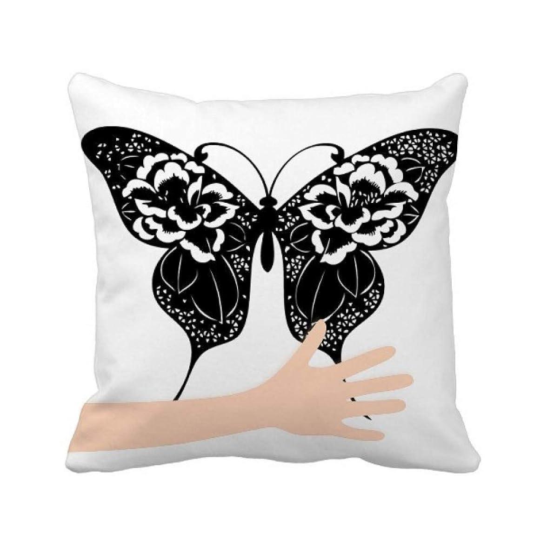 苦悩マーチャンダイジングピック蝶の翼?ローズ 手投げ枕カバー正方形