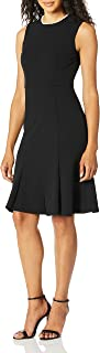 Donna Morgan womens Sleeveless Crepe Fit and Flare Dress Dress