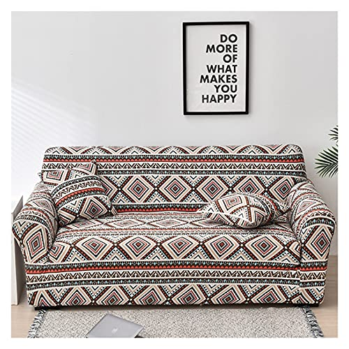 OYZK Cubierta de sofá Floral de Estiramiento, sofá elástica Cubiertas para Sala de Estar Sofá Funda Fundas Fundas Sofás con Chaise Longue 1pc (Color : 32, Specification : 1 Seat 90 140cm)