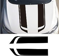 LANZMYAN Car Hood Decal Sticker DBS002 Universal Hood Racing Body Side Vinyl Modified Stripe Exterior Decal Decoration Black
