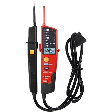 Spannungstester Und Durchgangsprüfer Uni T Ut18c Multifunktion Wasserdichte Digital Voltage Meter Voltmeter Spannung Tester 12v 690v Ac Dc Automatische Reichweite Lcd Anzeigen Baumarkt