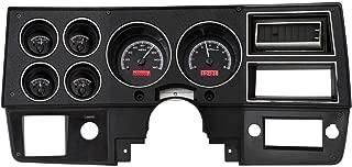 Dakota Digital 73-87 Chevy GMC Pickup Truck VHX Analog Dash Gauges System Black Alloy Red VHX-73C-PU-K-R