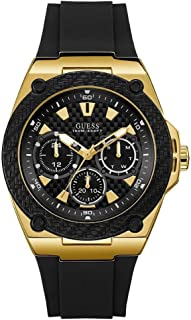 Guess Legacy Mens Analog Quartz Watch with Silicone Bracelet W1049G5