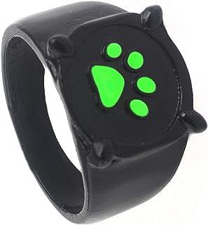 Ladybug Ring Cat Noir Rings - Cat Noir Costume for Kids Miroculous Cat Noir Toys US Size 7 Cosplay Props Accessories