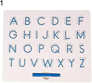 Sanwooden Interesting Toy Magnetic Beads Board Magnetic Beads Drawing Board Mathematics Number Alphabet Educational Kids T...