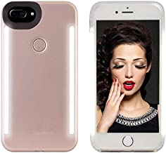 Selfie Light up Case for iPhone 6 plus/6s Plus/7 Plus/8 Plus,LNtech Rechargeable LED Light Up Flash Lighting Selfie Case Back and Front Cover(Rose Gold, iPhone 6 plus/6s Plus/7 Plus/8 Plus)