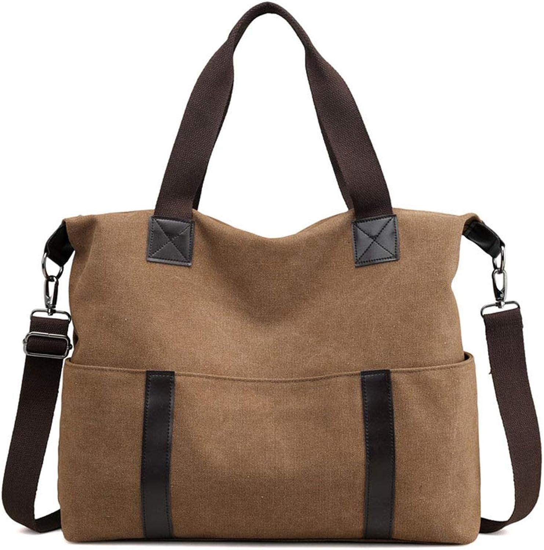 ChenYongPing Frauen Handtasche Damen Tragbare Big Bag Bag Bag Schultertasche Handtasche Canvas Diagonal Paket Mode-Handtaschen (Farbe   braun) B07PT6HXFP  Sehr gelobt und vom Publikum der Verbraucher geschätzt b2e4c5
