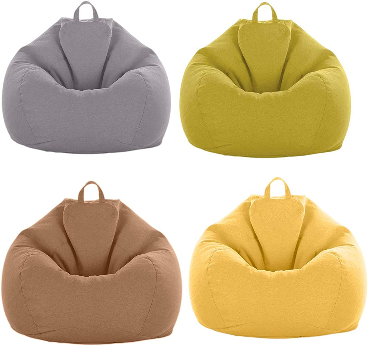 Fityle 4 Pieces Beanbag Cover Great Toys Storage Bags Simple and Easy to Use