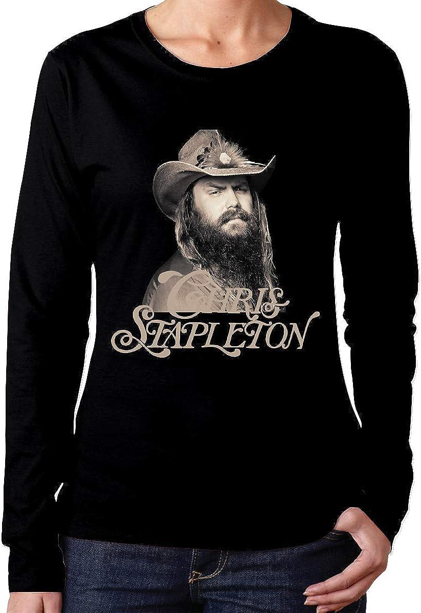 Chris Stapleton Femme Coton Manches Courtes T Shirt O Neck Blouse Tops Tees