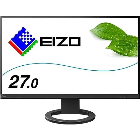 EIZO 27.0型フレームレスモニターFlexScan EV2760-BK(2560×1440/アンチグレアIPS/疲れ目軽減/ブラック/5年間保証)