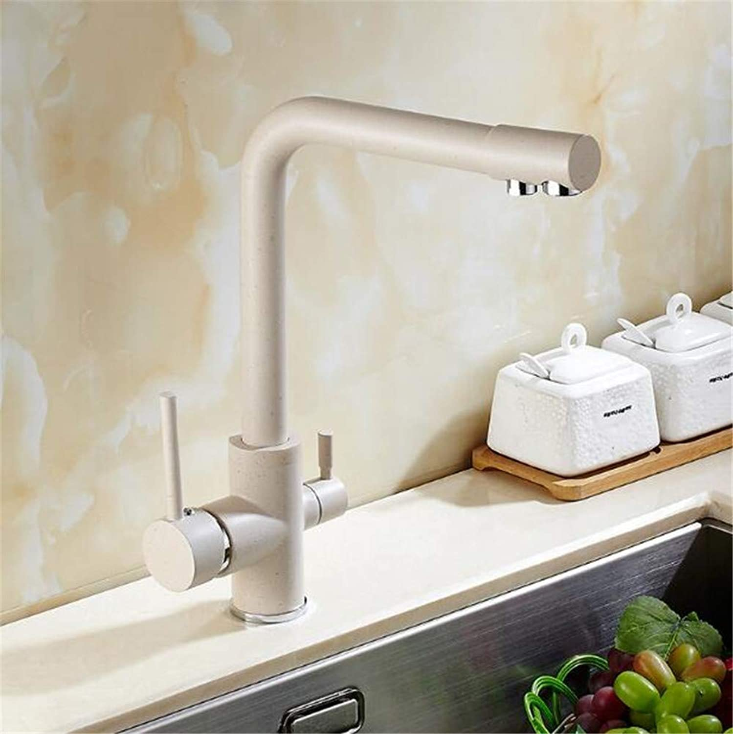 Oudan Brass Material High Temperature Panting Single Lever Kitchen Faucet Sink Tap with Direct Drinking Pipe (color   -, Size   -)
