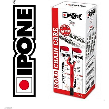 Ipone Pack Brosse + dégraissant + Graisse de chaîne Road Roadster Sportive