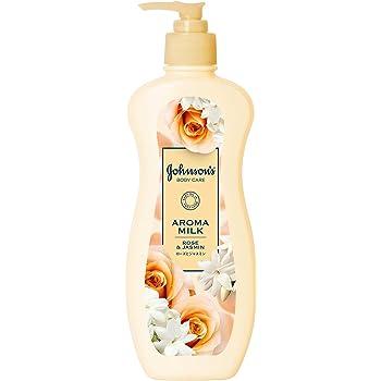 ジョンソンボディケア アロマミルク エクストラケア ボディローション ローズとジャスミンの香り 単品 ポンプ 400mL